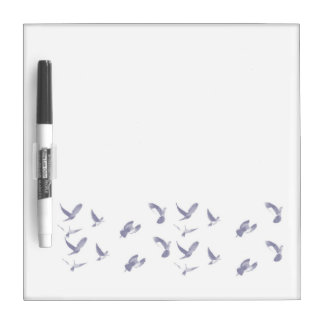Birds Flying  Dry Erase Board with Pen