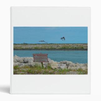 birds flying florida no tresspassing sign vinyl binder
