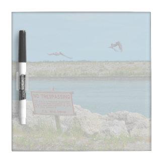birds flying florida no tresspassing sign Dry-Erase board