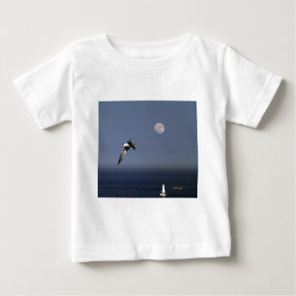 Birds Flying Over Boats At Sea T Shirt