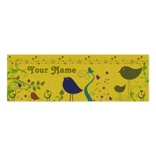 Birds Gift Enclosure Card Double Sided Mini Business Cards