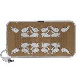 Birds_gold_cute_design blanco de Birds_Funny_love Mini Altavoces