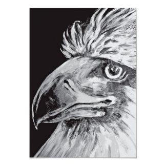 Birds Head and Beak, Black & White Card
