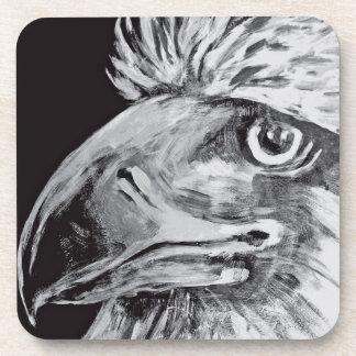 Birds Head and Beak, Black & White Drink Coasters