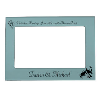 Birds & Hearts Wedding Photo Magnetic Picture Frame