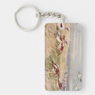 Birds in a Field Keychain