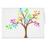 Birds in a Heart Tree Greeting Card