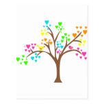 Birds in a Heart Tree Postcard