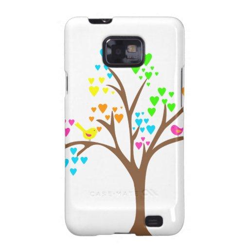 Birds in a Heart Tree Samsung Galaxy SII Case