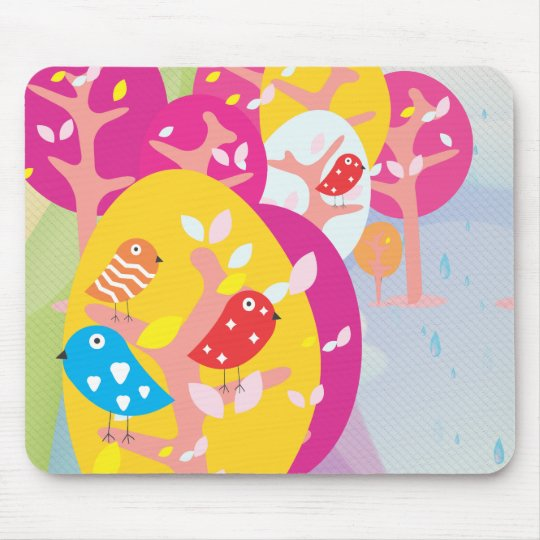 Birds in a Nest Mouse Pad