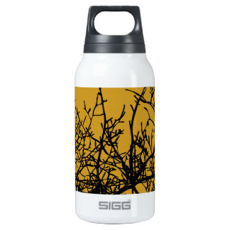 Birds in a Tree black graphic on gold SIGG Thermo 0.3L Insulated Bottle