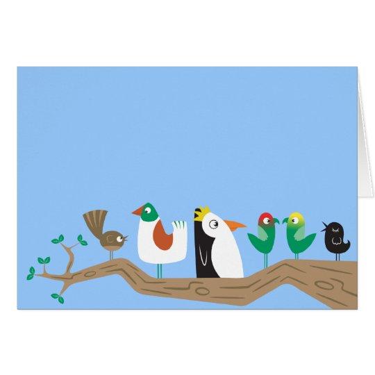 Birds in a Tree Card
