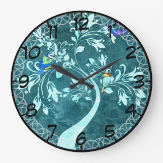 Birds In A Tree Large Clock