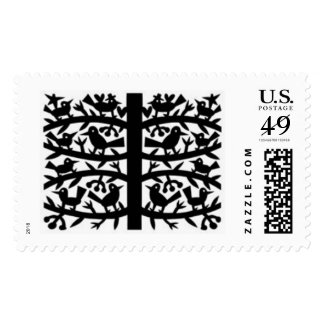 Birds In A Tree Postage