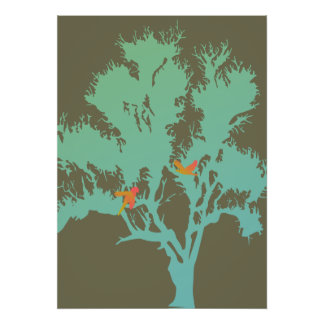 Birds in a Tree Poster