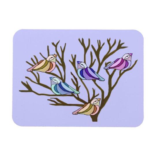 Birds in a tree Premium Magnet