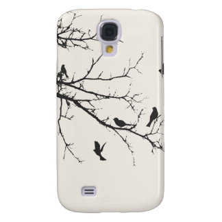 Birds in Black and White Samsung Galaxy S4 Cover