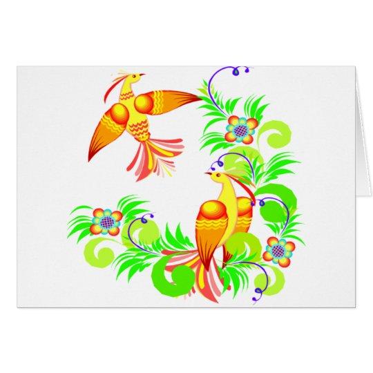 Birds In Color Card
