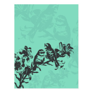Birds in Double Silhouette Postcard