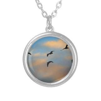 Birds in Flight Necklaces