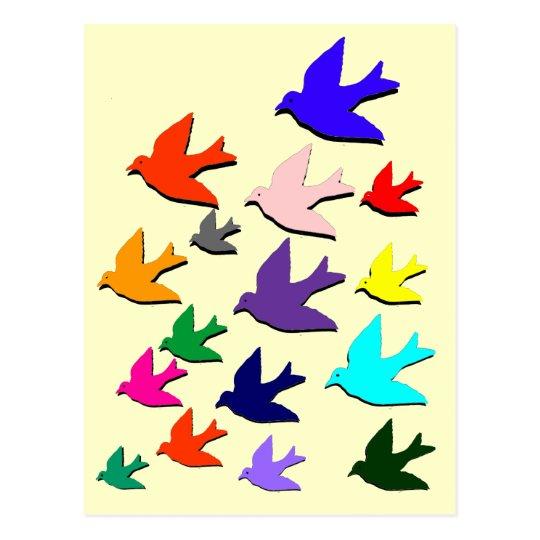 Birds in Flight Postcard