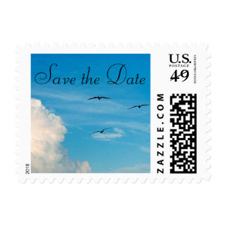 Birds in Flight Save The Date Postage