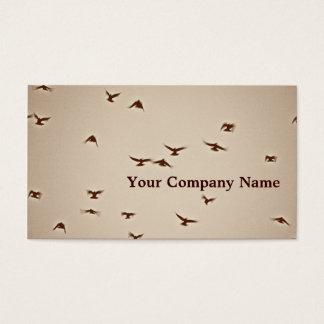 Birds In Flight Sepia Custom Business Cards