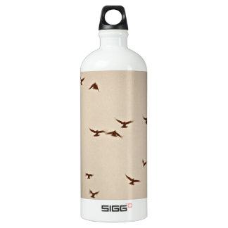 Birds In Flight vintage sepia Water Bottle