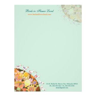 Birds in Flower Land Baby Business Letterhead