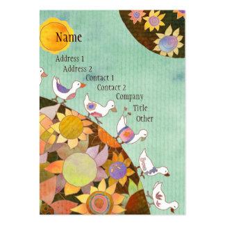 Birds in Flower Land Business Cards