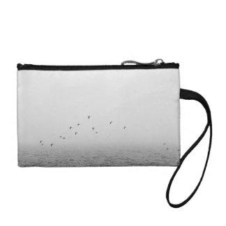 Birds in fog coin purses