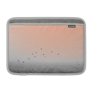 Birds in fog MacBook sleeve