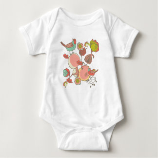Birds in Fruit Tree Baby Bodysuit