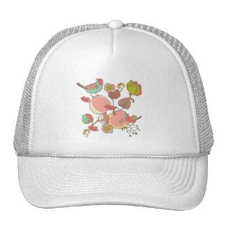Birds in Fruit Tree Hat