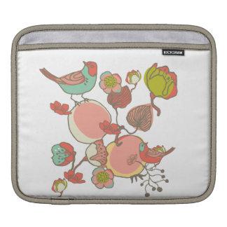 Birds in Fruit Tree iPad Sleeves