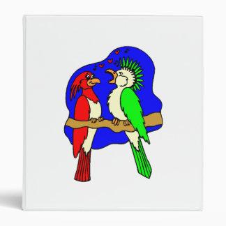 Birds In Love Vinyl Binder