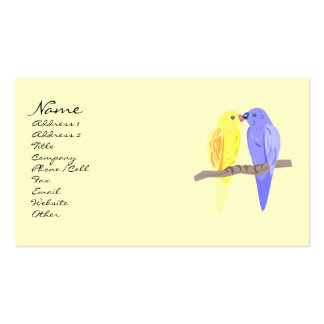 Birds in Love Business Cards