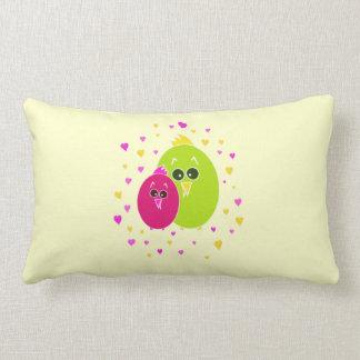 Birds in Love Lumbar Pillow