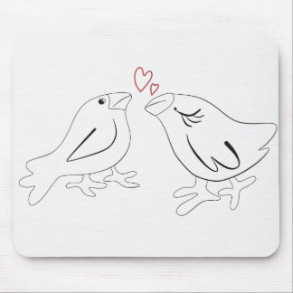 Birds in love mouse pad