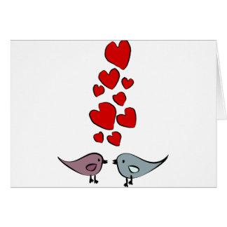 Birds in Love Theme Card