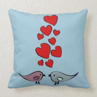 Birds in Love themed design Throw Pillow