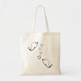 Birds In Love Tote Bag