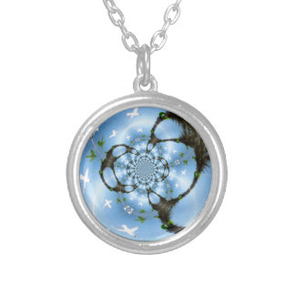 Birds in Paradise Silver Plated Necklace