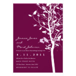 Birds in Plum Tree with Leaves Custom Announcements