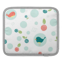 Birds in Polka Dota and Trees in Spring Sleeve For iPads