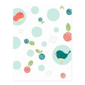 Birds in Polka Dots Post Card