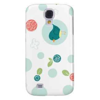 Birds in Polka Dots Samsung Galaxy S4 Cases
