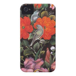 Birds in red flowers elegant Eastern art Case-Mate iPhone 4 Case