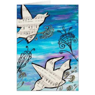 Birds in the Garden Card