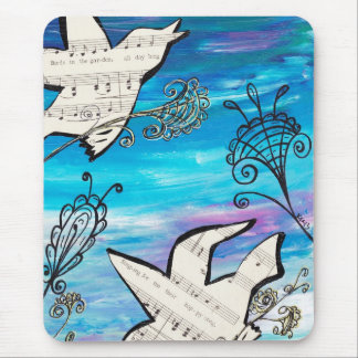 Birds in the Garden Mouse Pad